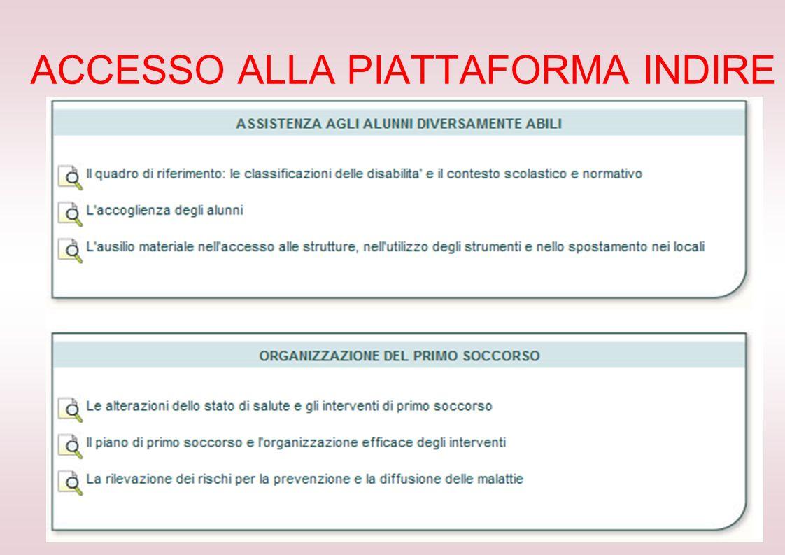 ACCESSO ALLA PIATTAFORMA INDIRE