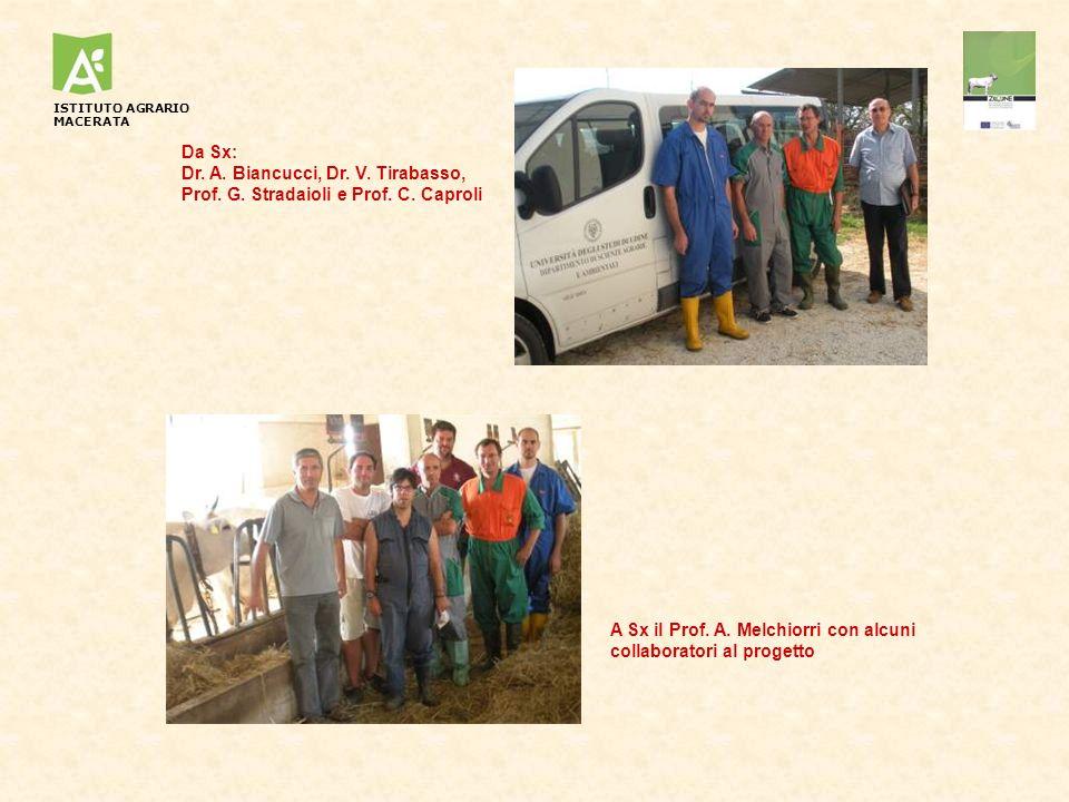 A Sx il Prof. A. Melchiorri con alcuni collaboratori al progetto