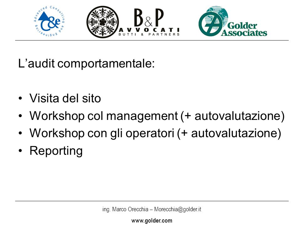 L'audit comportamentale: