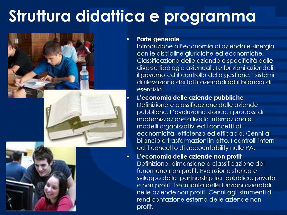Struttura didattica e programma