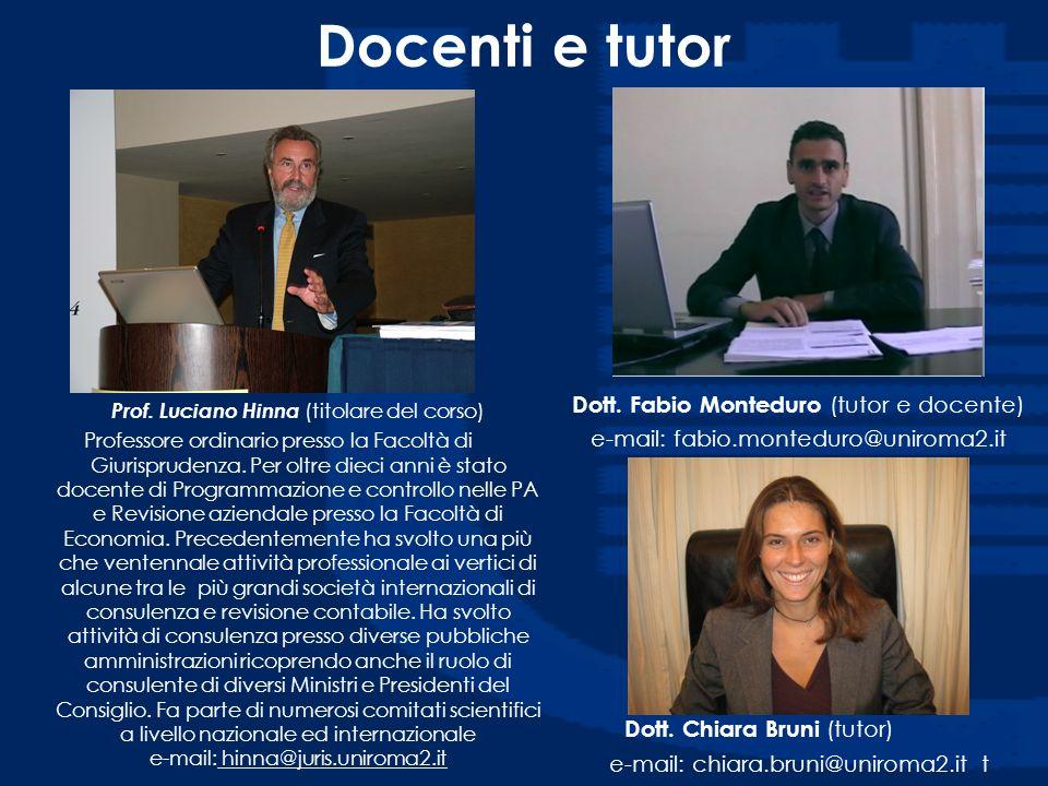 Docenti e tutor Dott. Fabio Monteduro (tutor e docente)