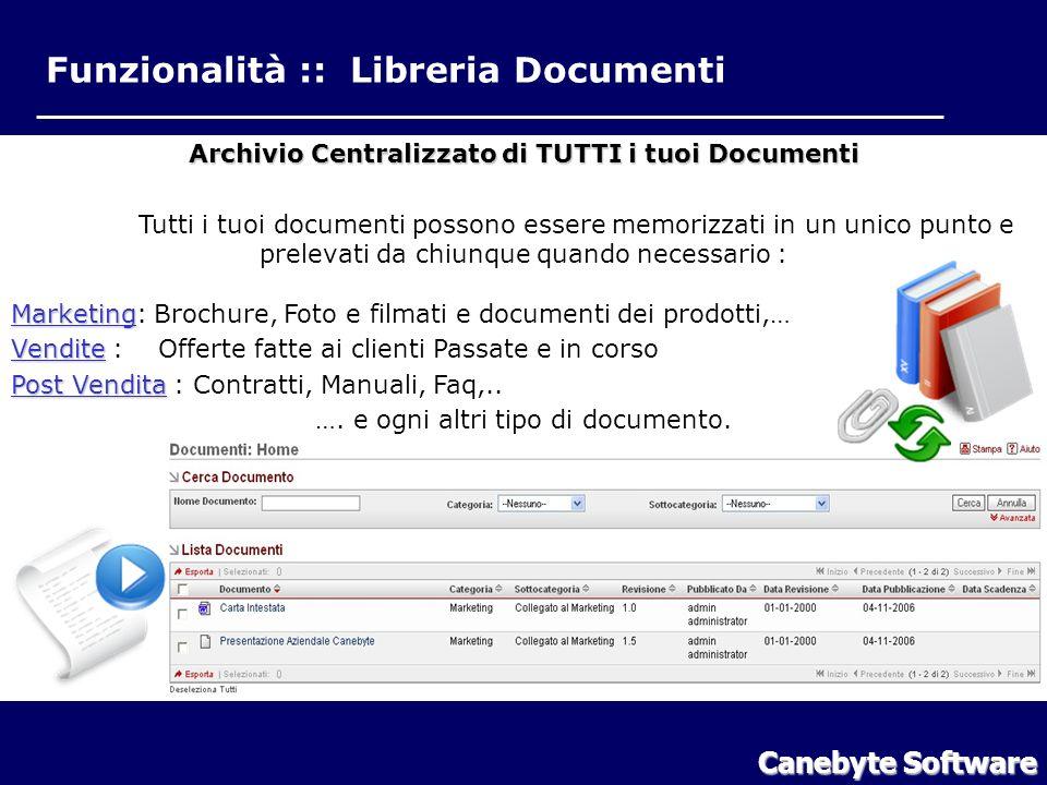 Funzionalità Libreria Documenti