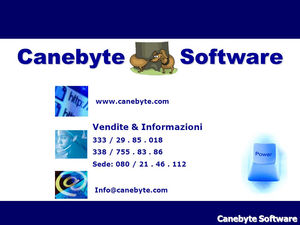 Canebyte Software Vendite & Informazioni Canebyte Software
