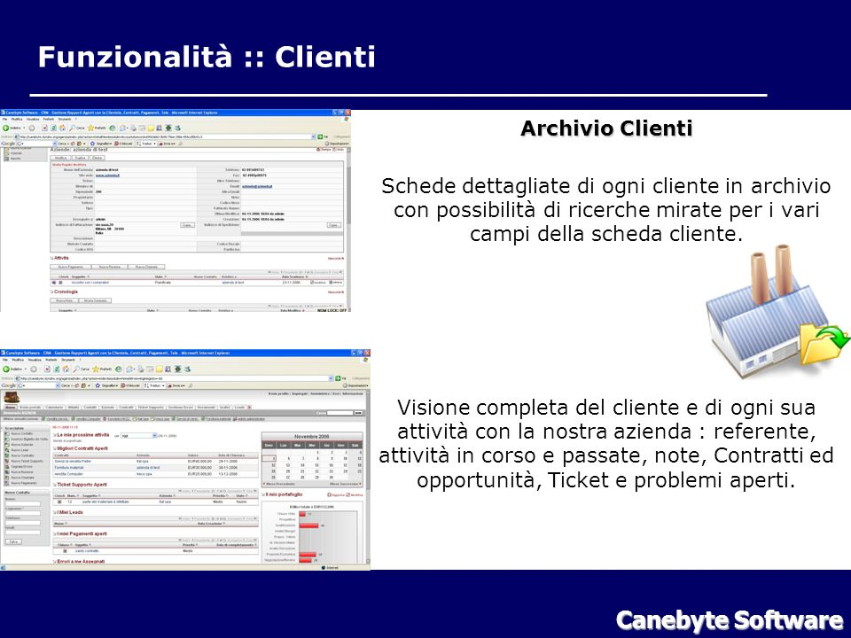 Funzionalità :: Clienti