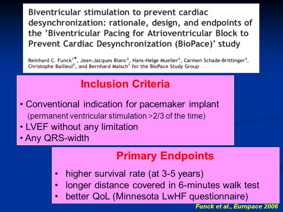 Inclusion Criteria Primary Endpoints