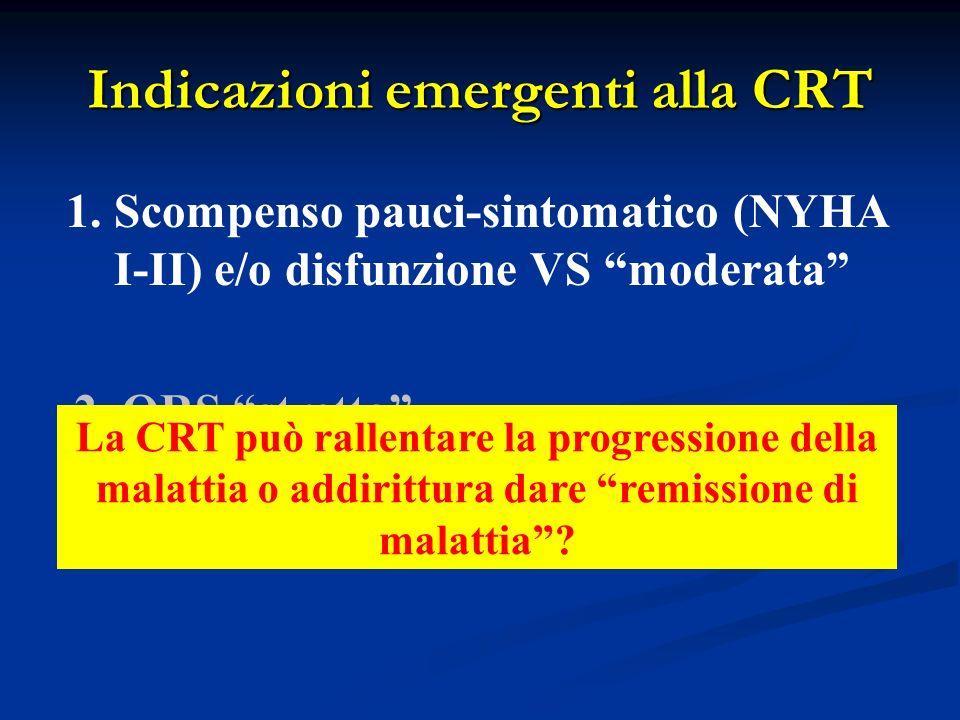 Indicazioni emergenti alla CRT