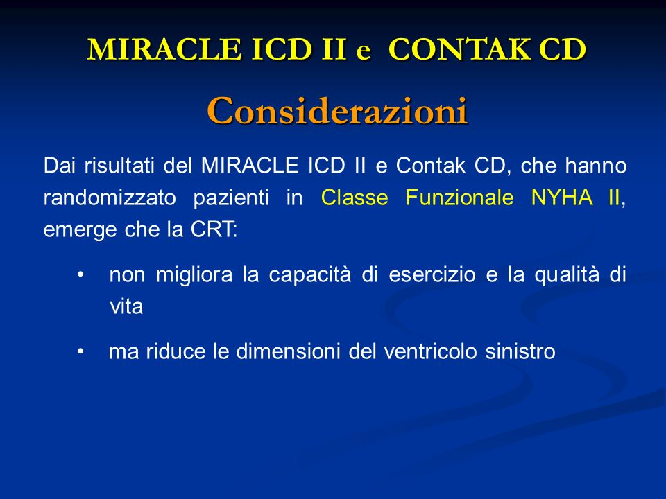 MIRACLE ICD II e CONTAK CD