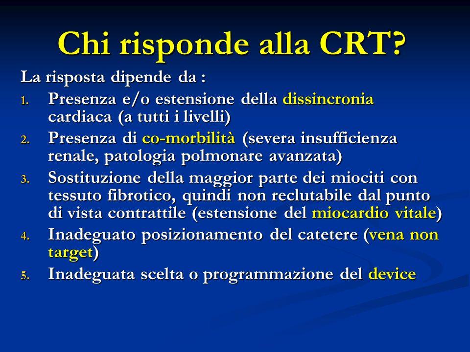 Chi risponde alla CRT La risposta dipende da :