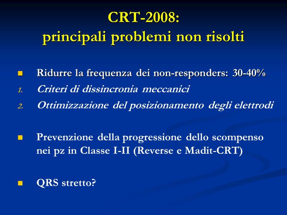 CRT-2008: principali problemi non risolti