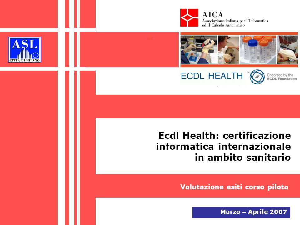 Copertina Ecdl Health: certificazione informatica internazionale in ambito sanitario. Valutazione esiti corso pilota.