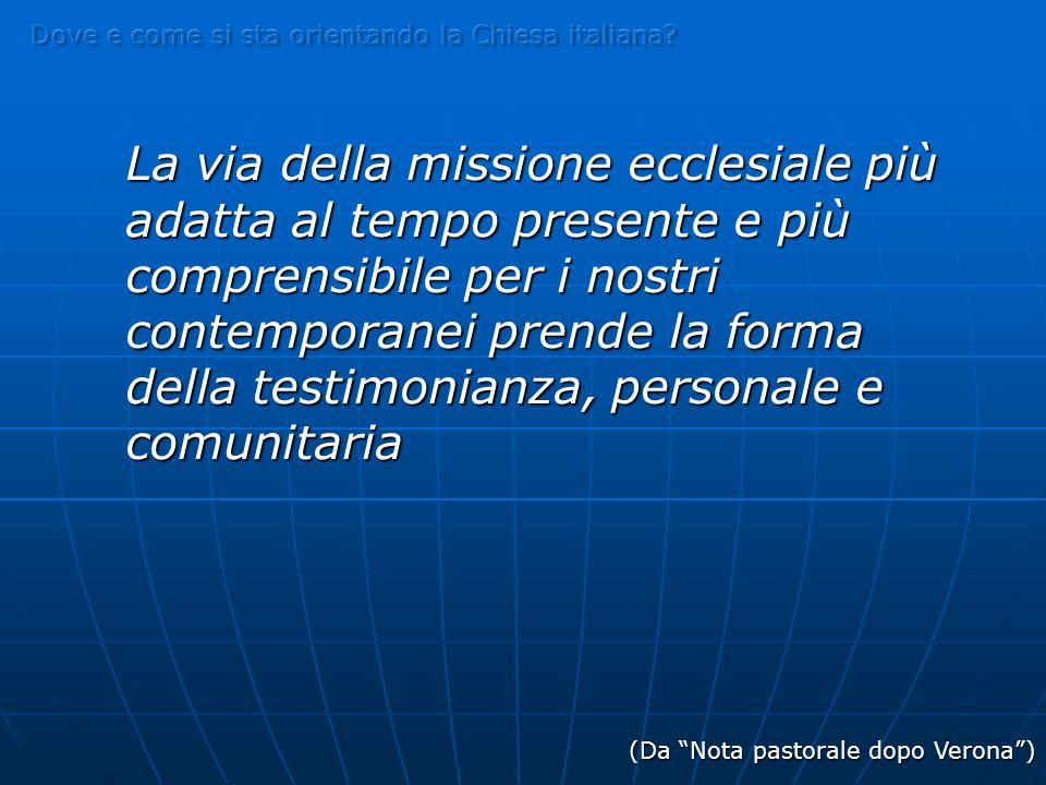 Dove e come si sta orientando la Chiesa italiana