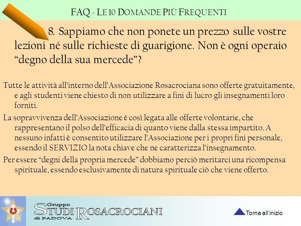 FAQ - LE 10 DOMANDE PIÙ FREQUENTI