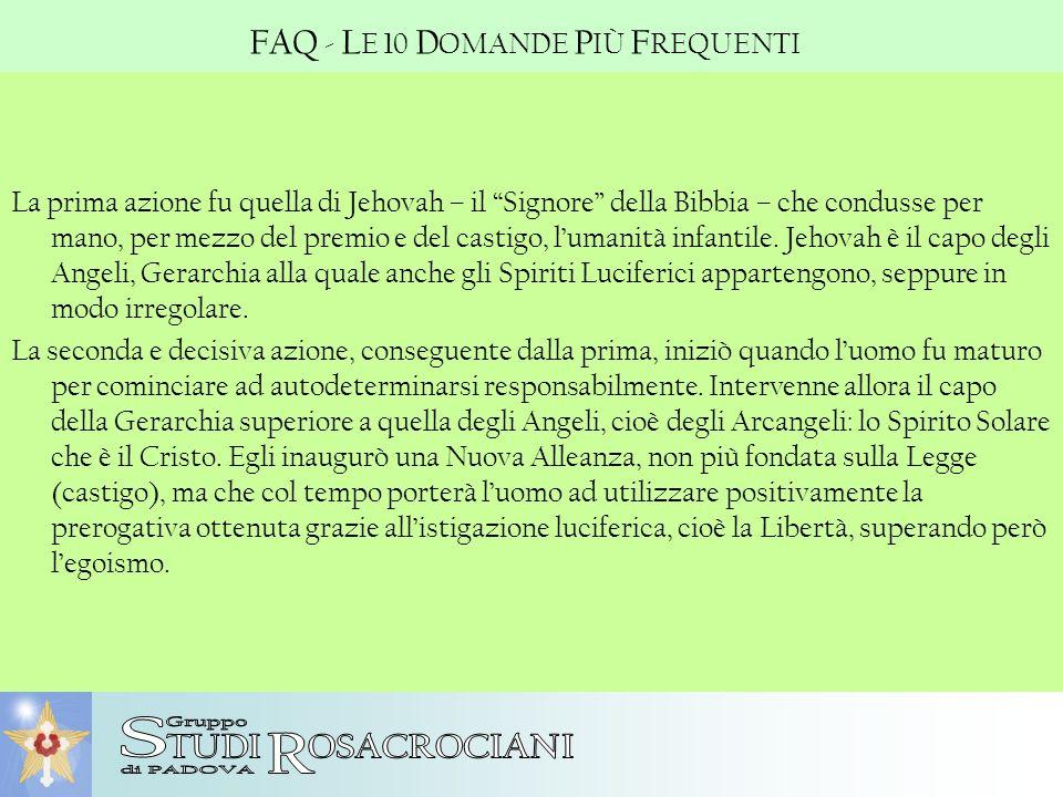 S R FAQ - LE 10 DOMANDE PIÙ FREQUENTI TUDI OSACROCIANI