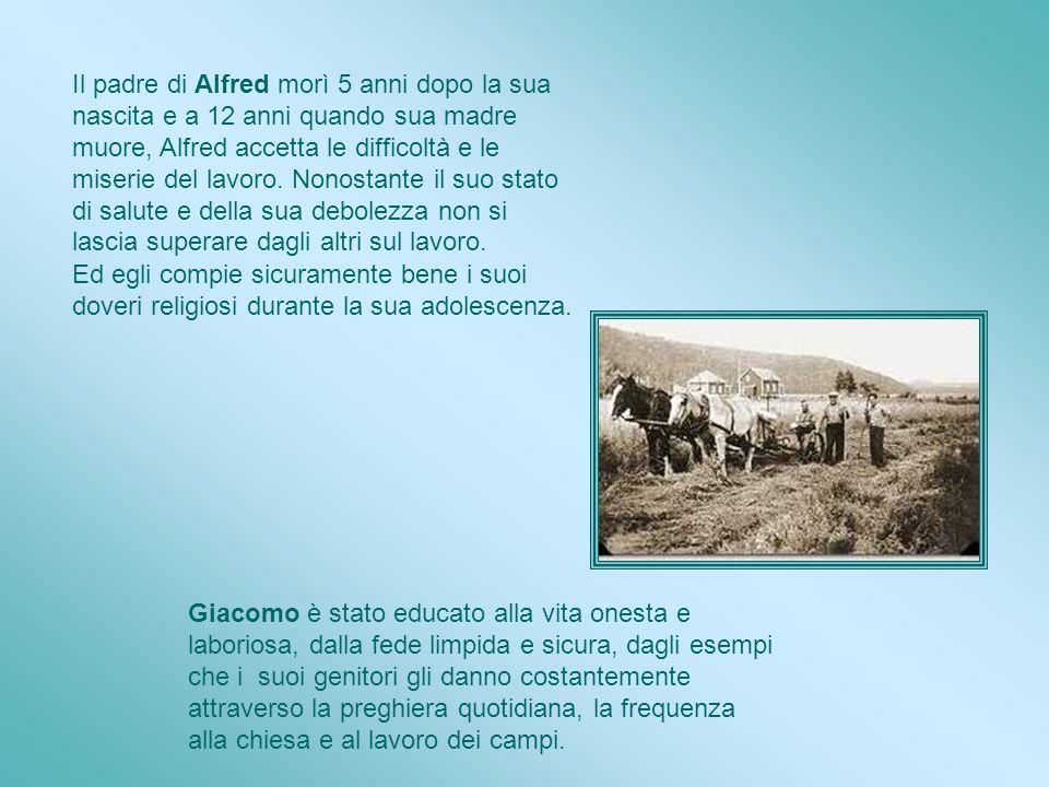 Il padre di Alfred morì 5 anni dopo la sua nascita e a 12 anni quando sua madre muore, Alfred accetta le difficoltà e le miserie del lavoro. Nonostante il suo stato di salute e della sua debolezza non si lascia superare dagli altri sul lavoro.