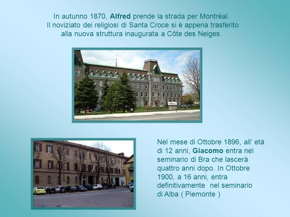 In autunno 1870, Alfred prende la strada per Montréal.