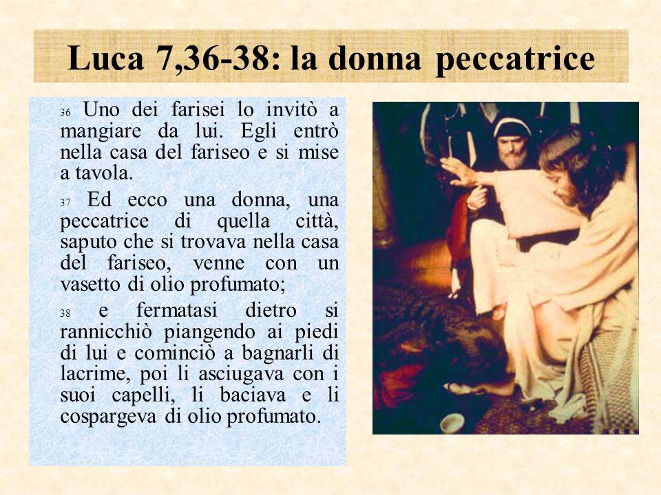 Luca 7,36-38: la donna peccatrice