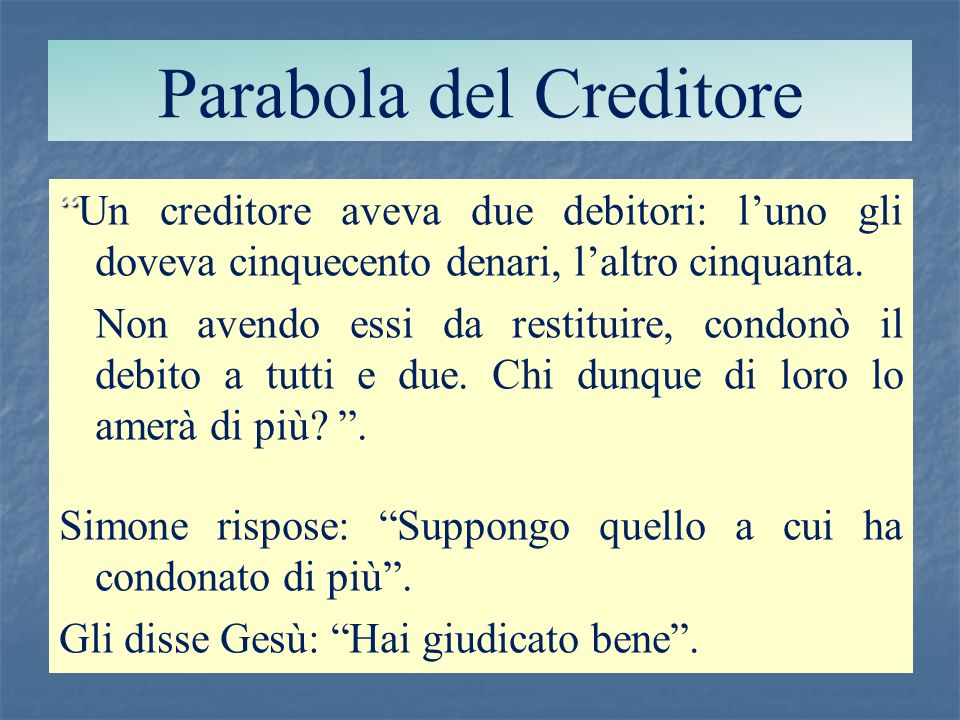 Parabola del Creditore