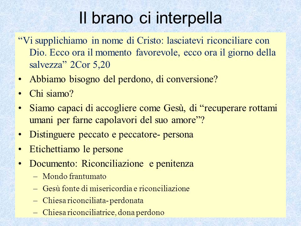 Il brano ci interpella