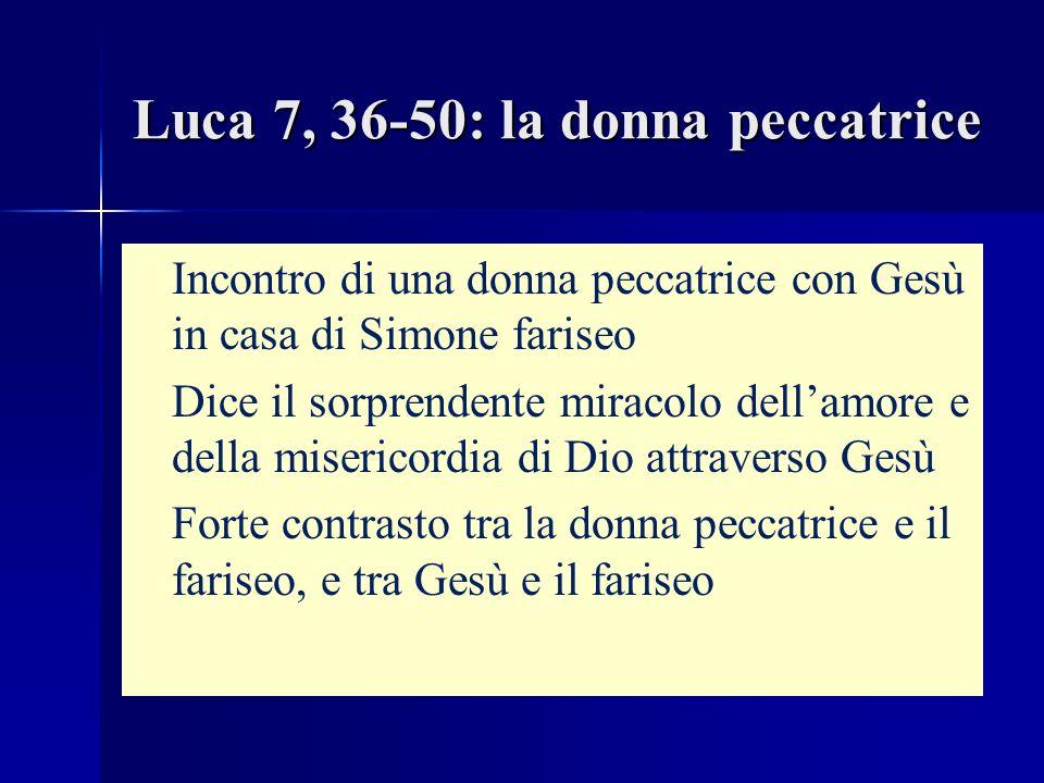 Luca 7, 36-50: la donna peccatrice