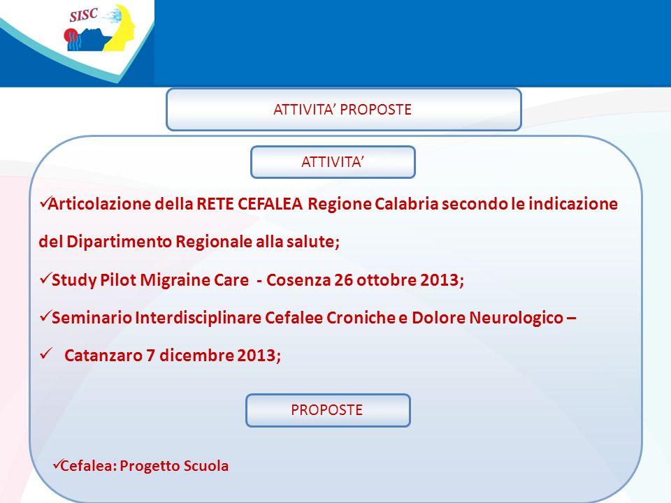 del Dipartimento Regionale alla salute;