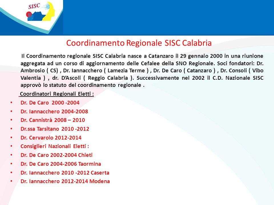 Coordinamento Regionale SISC Calabria