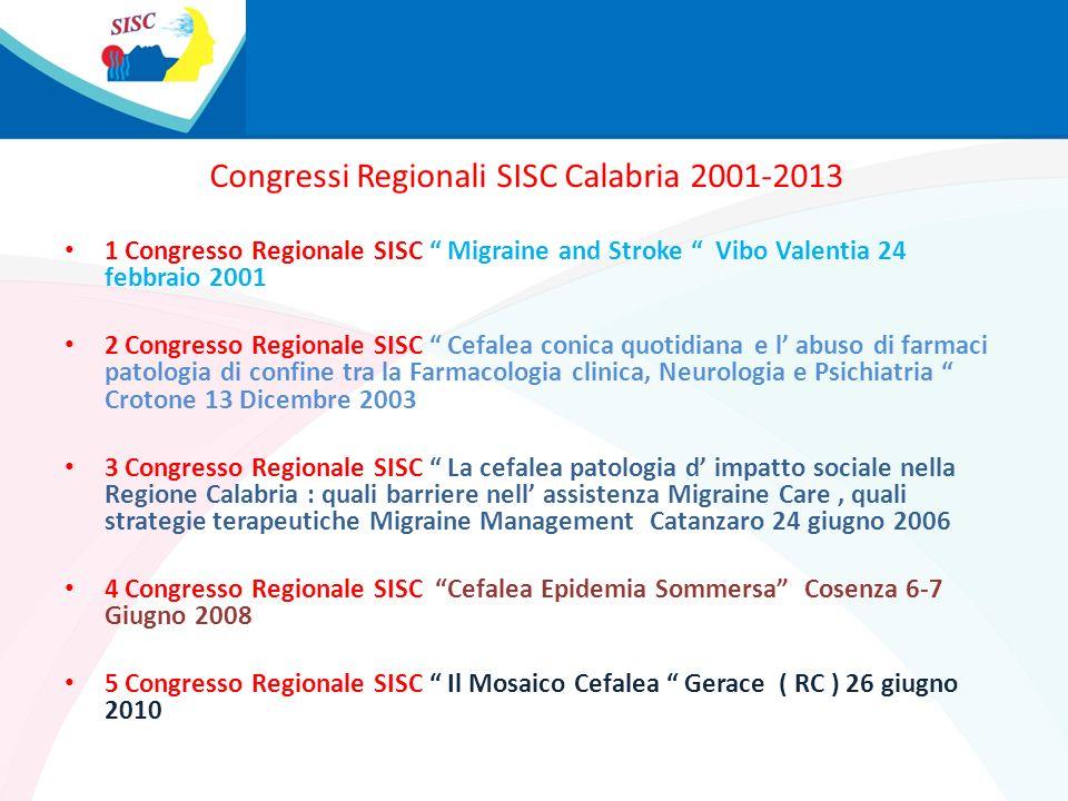 Congressi Regionali SISC Calabria 2001-2013