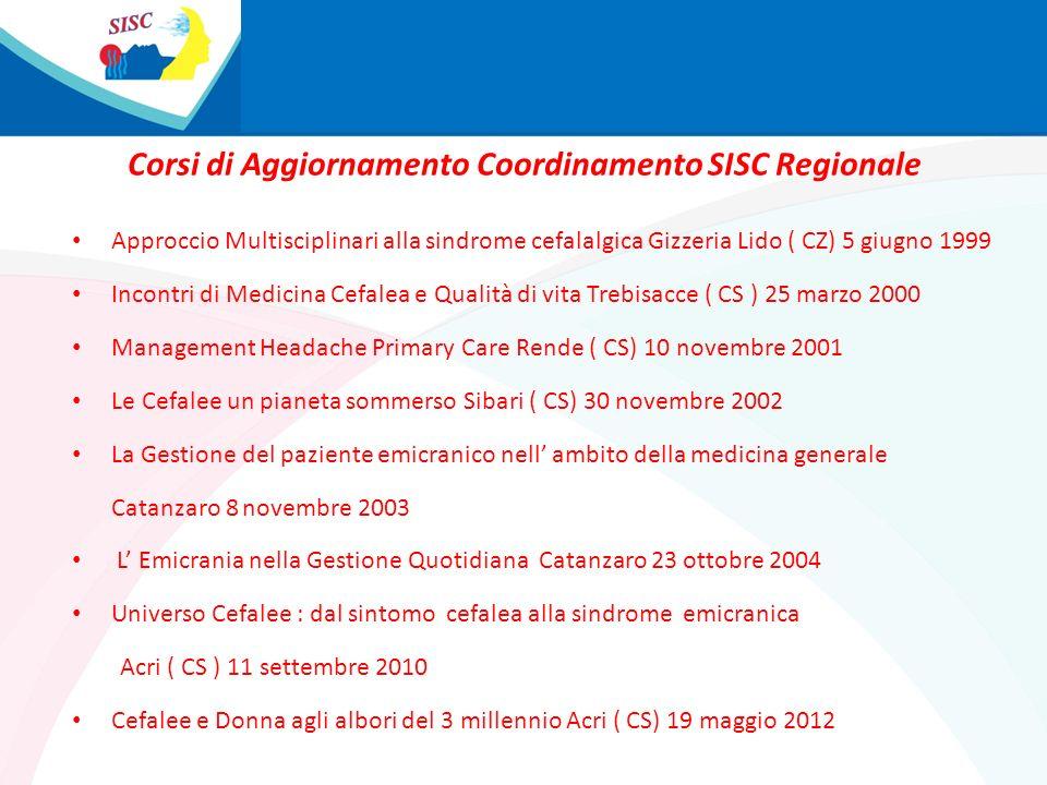 Corsi di Aggiornamento Coordinamento SISC Regionale