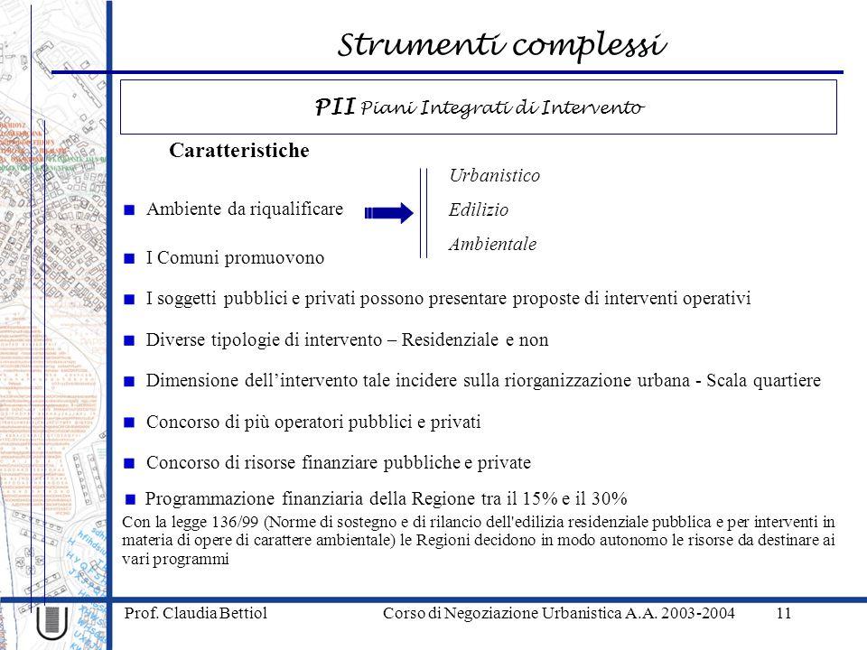 PII Piani Integrati di Intervento