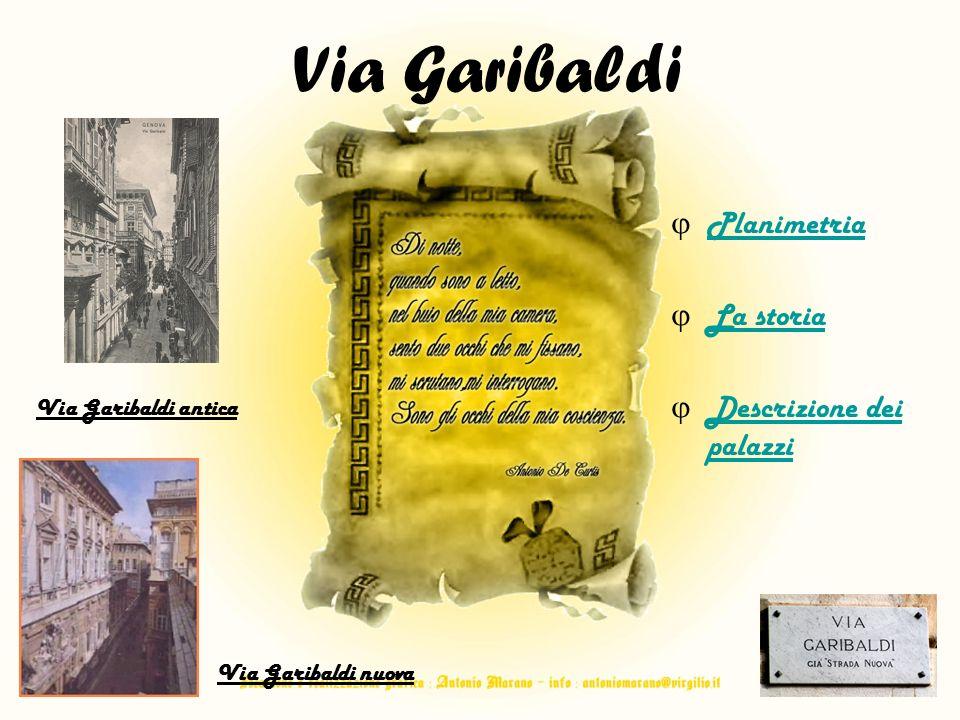 Via Garibaldi Planimetria La storia Descrizione dei palazzi