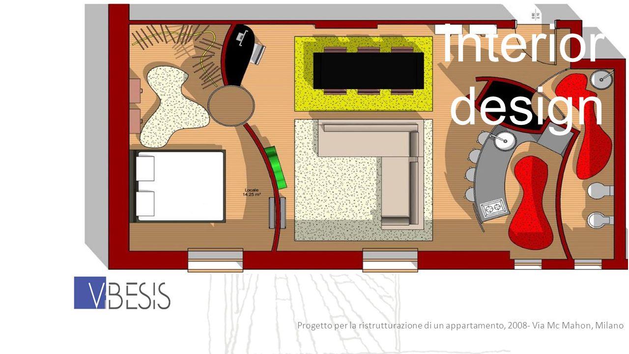 Interior design Progetto per la ristrutturazione di un appartamento, 2008- Via Mc Mahon, Milano