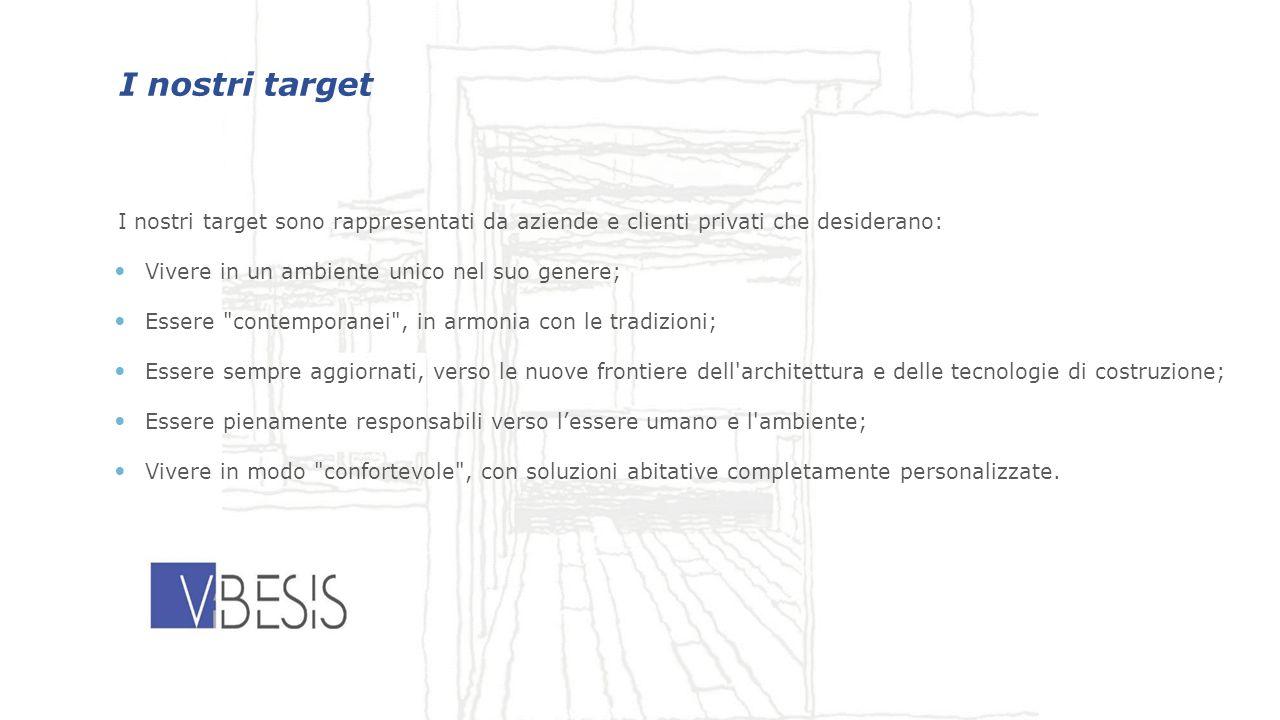 30/01/12 I nostri target. I nostri target sono rappresentati da aziende e clienti privati che desiderano: