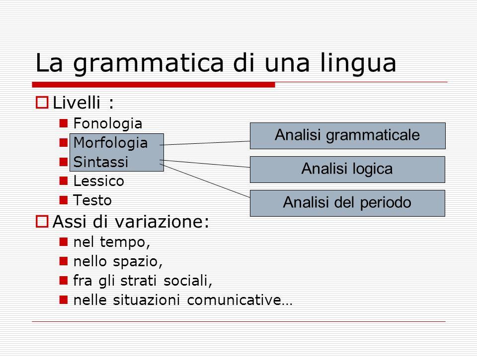 La grammatica di una lingua