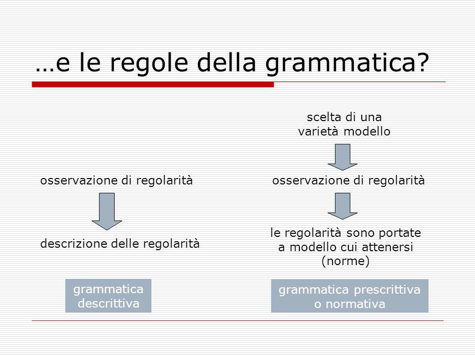 …e le regole della grammatica