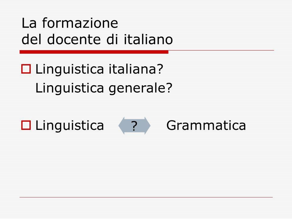 La formazione del docente di italiano