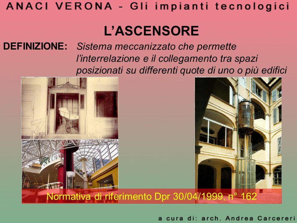 Normativa di riferimento Dpr 30/04/1999, n° 162