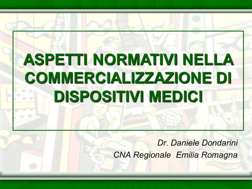 Dr. Daniele Dondarini CNA Regionale Emilia Romagna