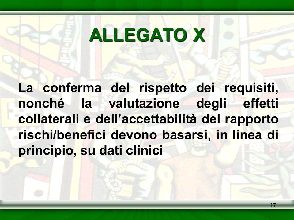 ALLEGATO X