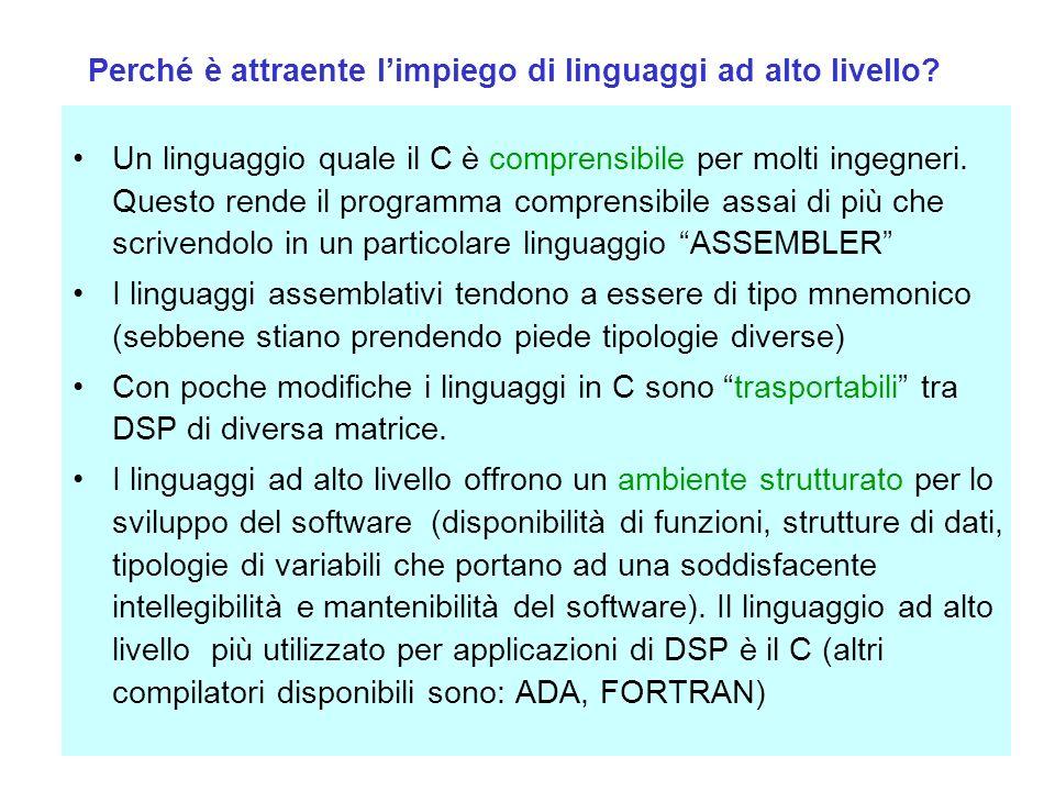 Perché è attraente l'impiego di linguaggi ad alto livello