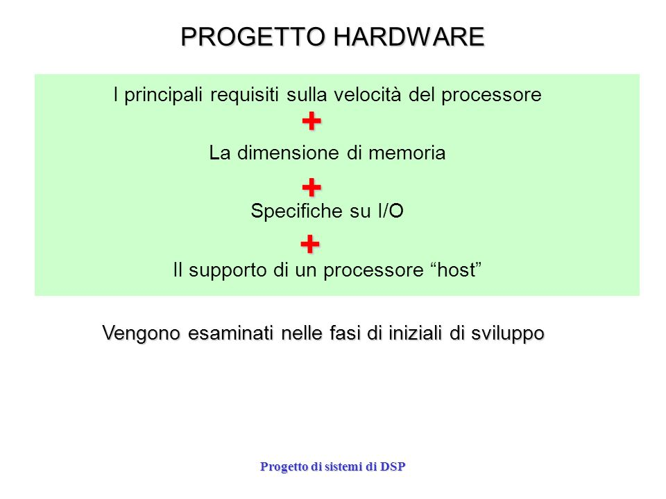 Progetto di sistemi di DSP