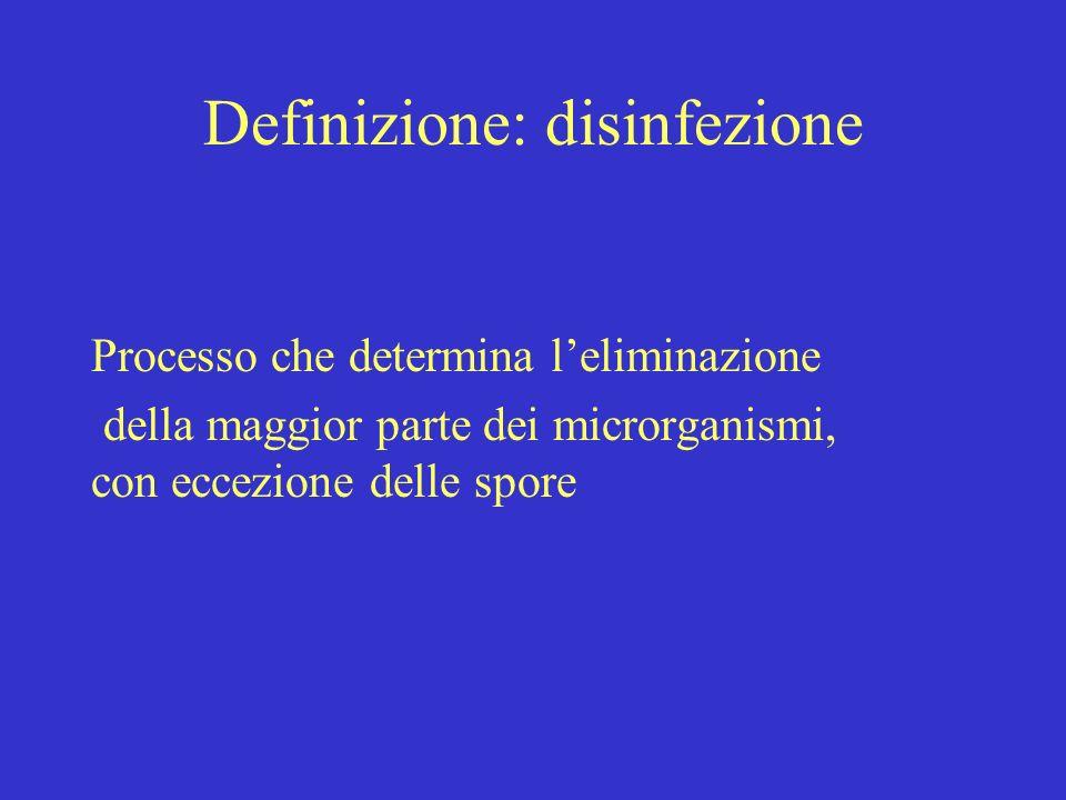 Definizione: disinfezione