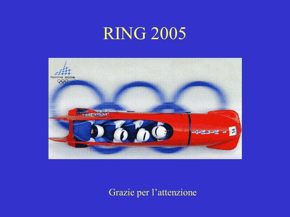 RING 2005 Grazie per l'attenzione
