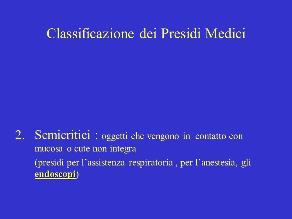 Classificazione dei Presidi Medici