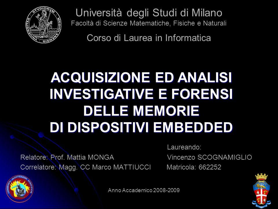Università degli Studi di Milano Facoltà di Scienze Matematiche, Fisiche e Naturali Corso di Laurea in Informatica
