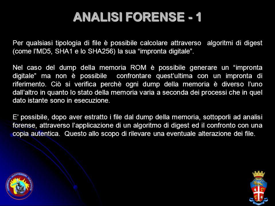 ANALISI FORENSE - 1