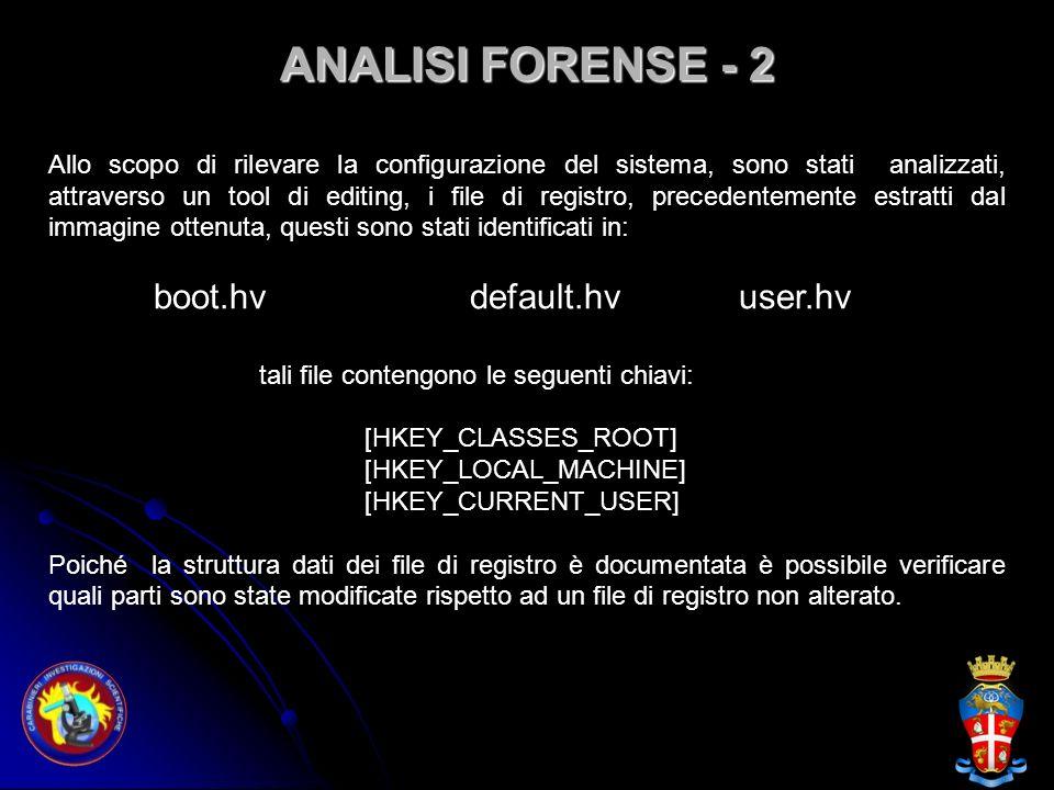 ANALISI FORENSE - 2