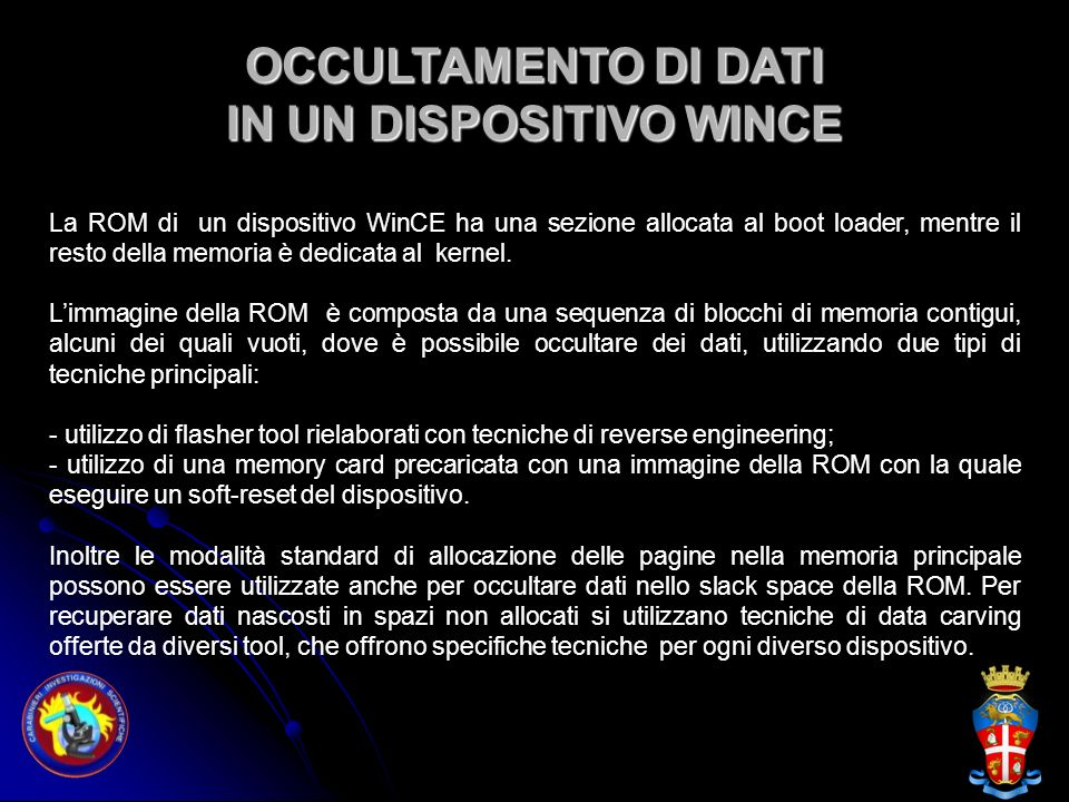 IN UN DISPOSITIVO WINCE