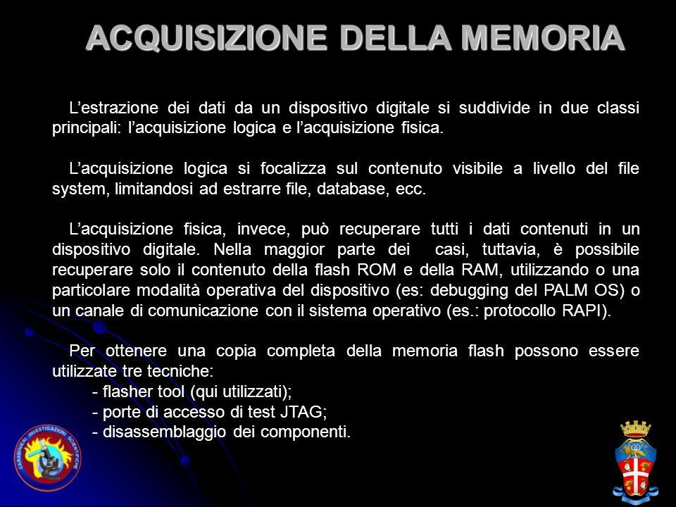 ACQUISIZIONE DELLA MEMORIA