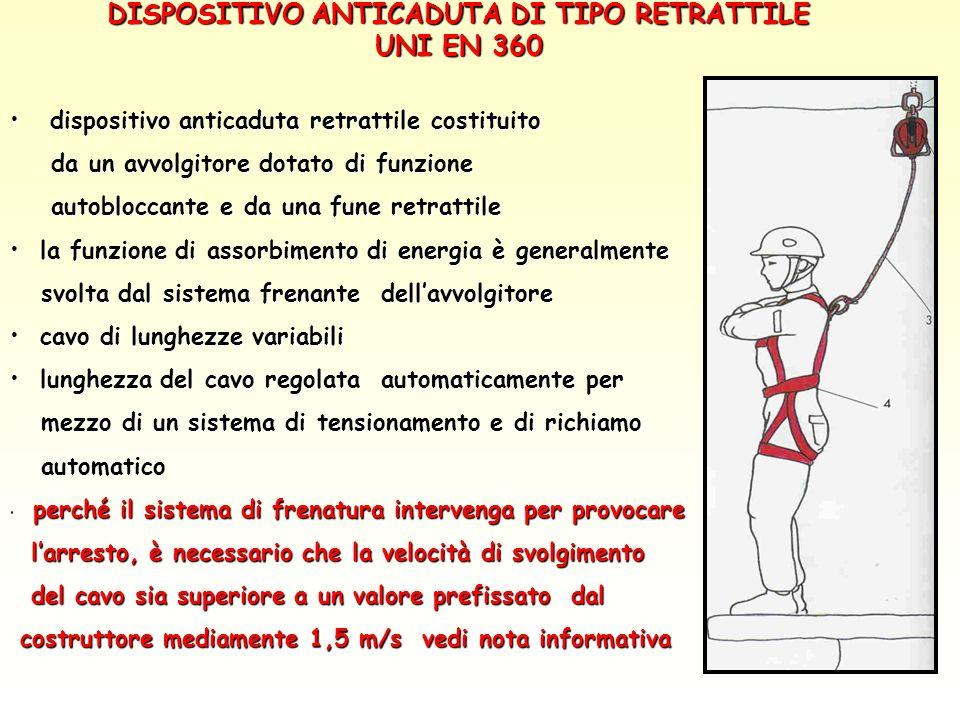 DISPOSITIVO ANTICADUTA DI TIPO RETRATTILE UNI EN 360