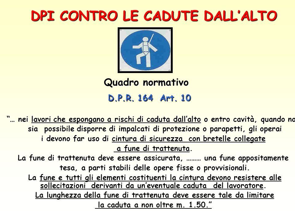 DPI CONTRO LE CADUTE DALL'ALTO