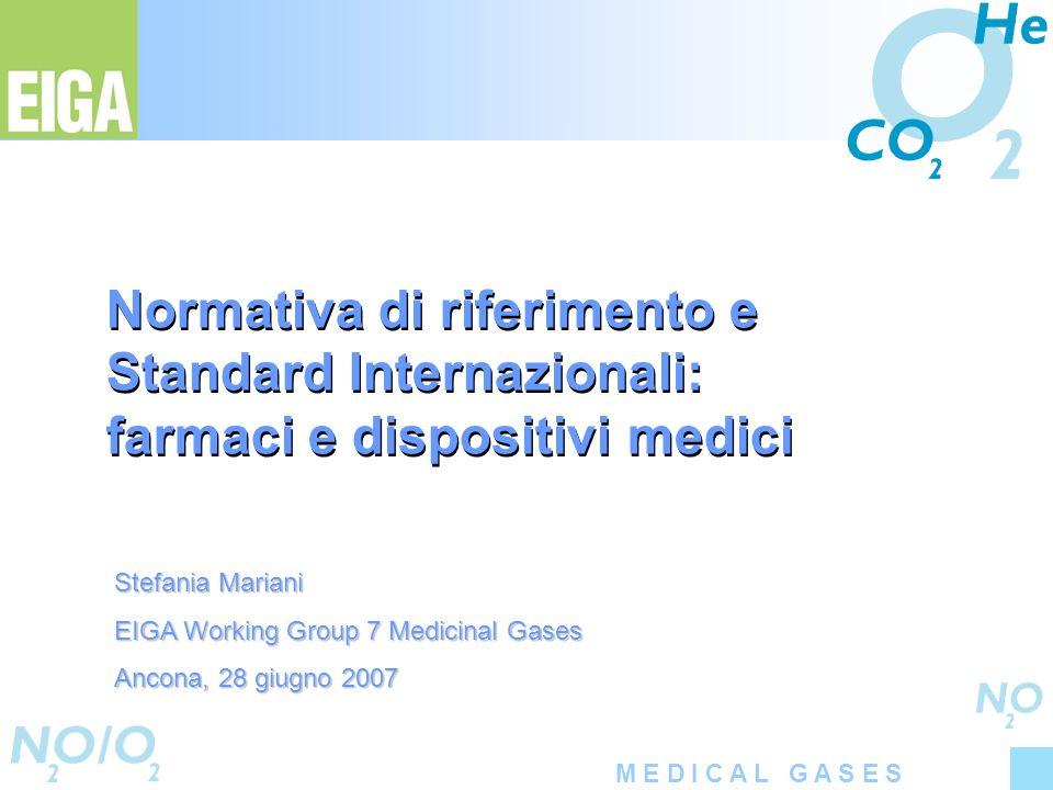 Normativa di riferimento e Standard Internazionali: farmaci e dispositivi medici